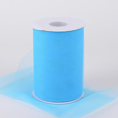 TURQUOISE Premium Quality Nylon 6 Inch Tulle Roll 100 Yards