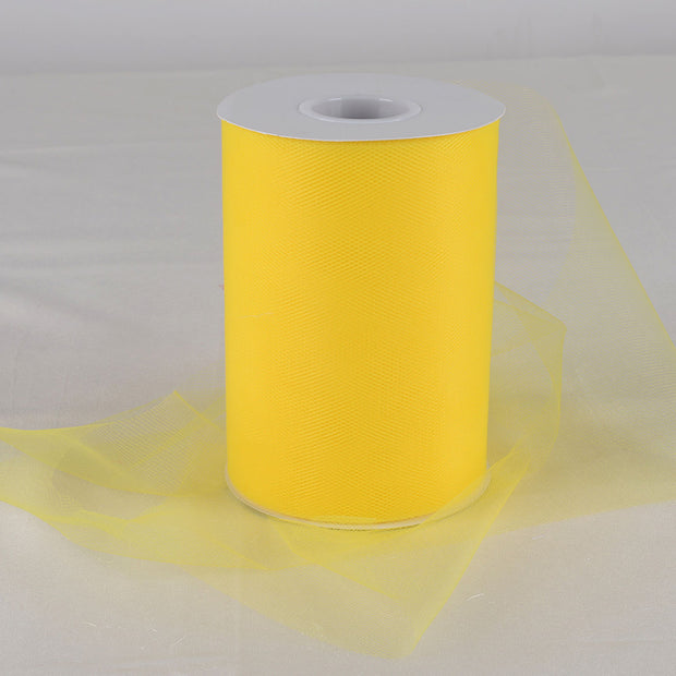 Yellow 6 Inch Tulle Roll 100 Yards