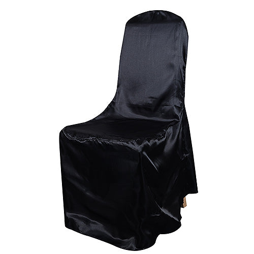 BLACK SATIN Banquet Chair Cover