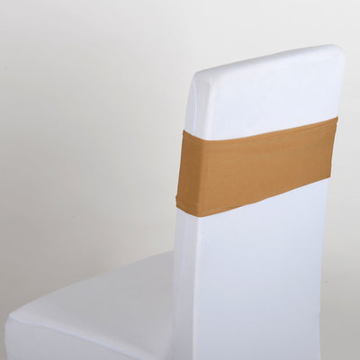 GOLD Spandex Chair Sash 5 pieces