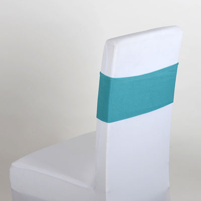 TURQUOISE Spandex Chair Sash 5 pieces