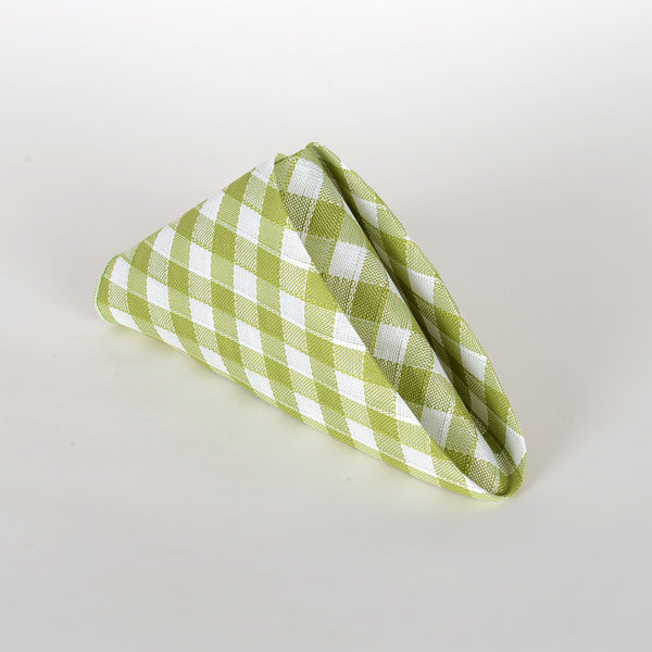 Lime - Checkered/ Plaid Napkins - Pack of 4