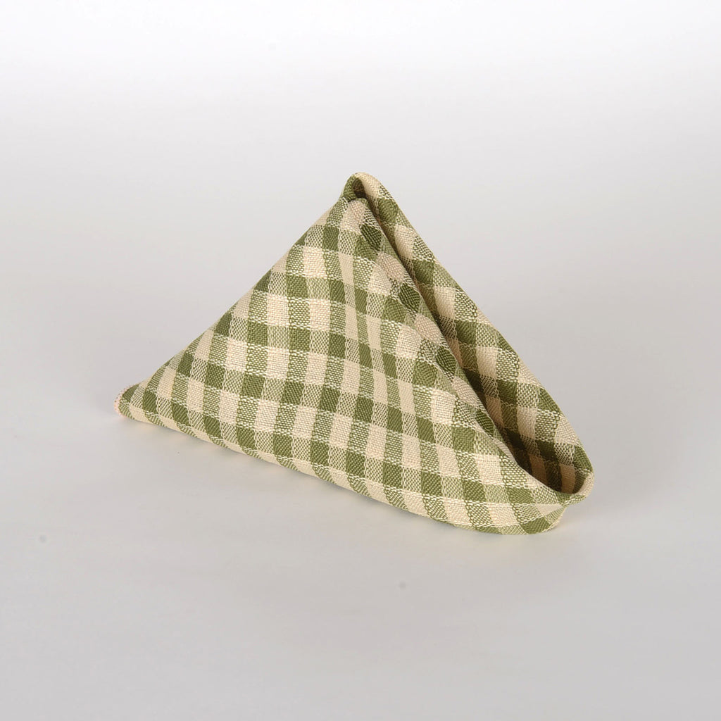 Spring Moss - Checkered/ Plaid Napkins - Pack of 4