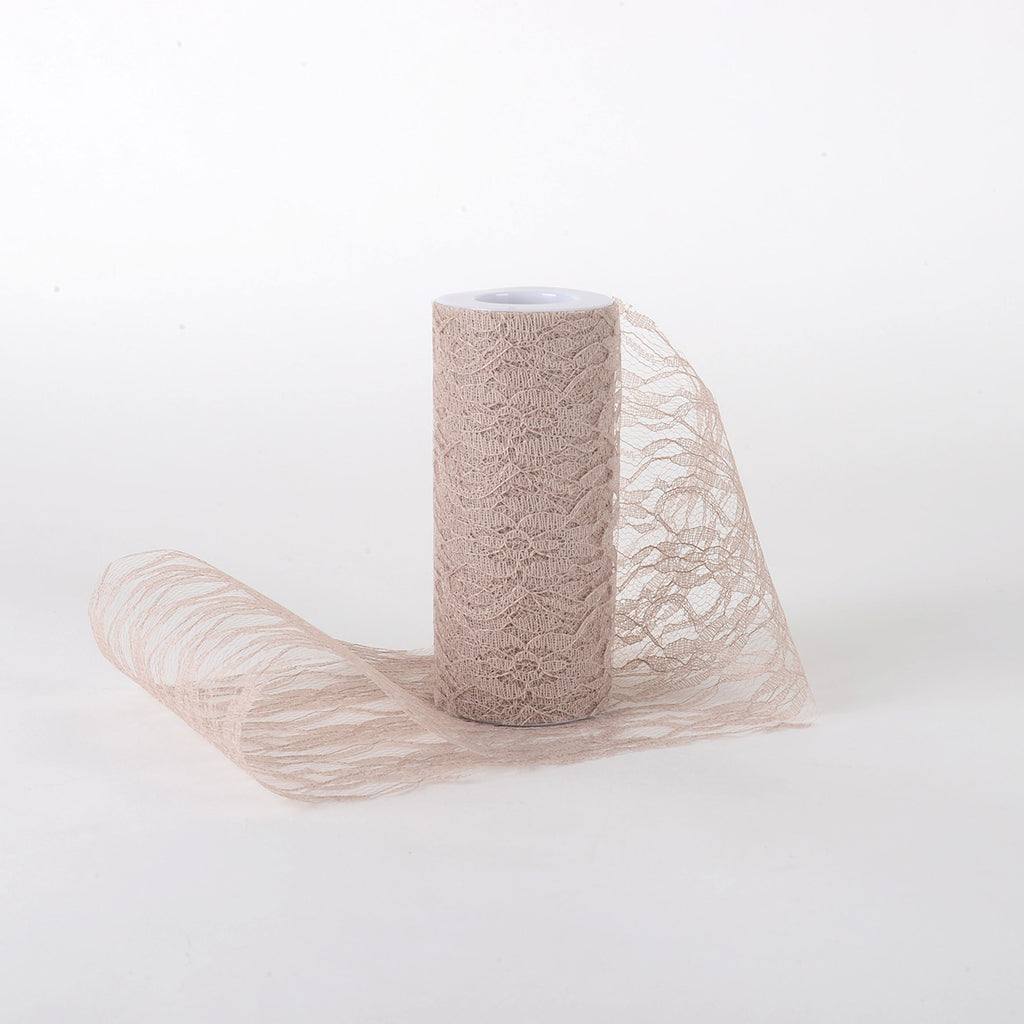 6 Inch Lace Roll - Tan