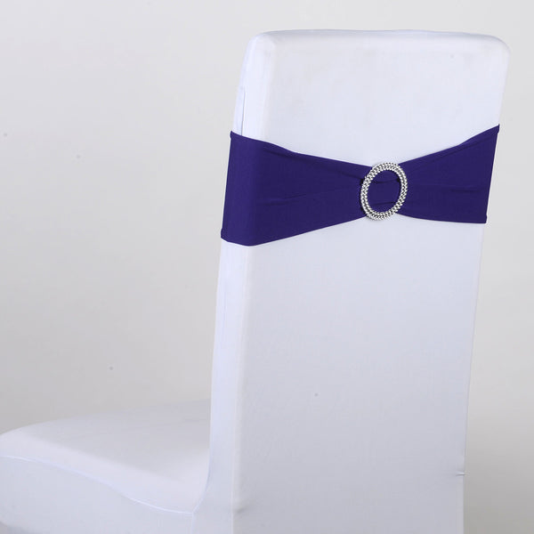 Purple Spandex Chair Sash w. Buckle 5 pieces