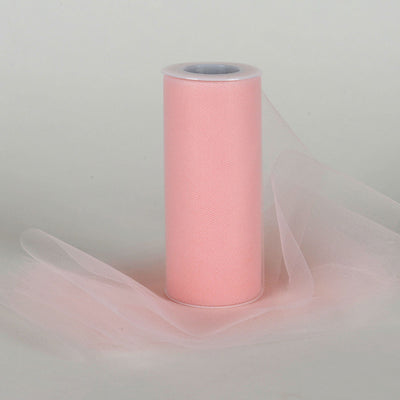 Blush 6 Inch Tulle Roll 25 Yards