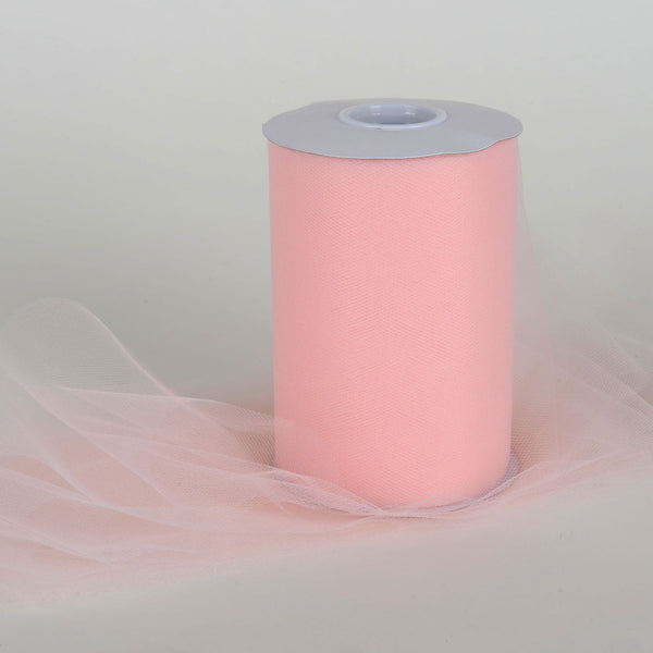 Blush 6 Inch Tulle Roll 100 Yards