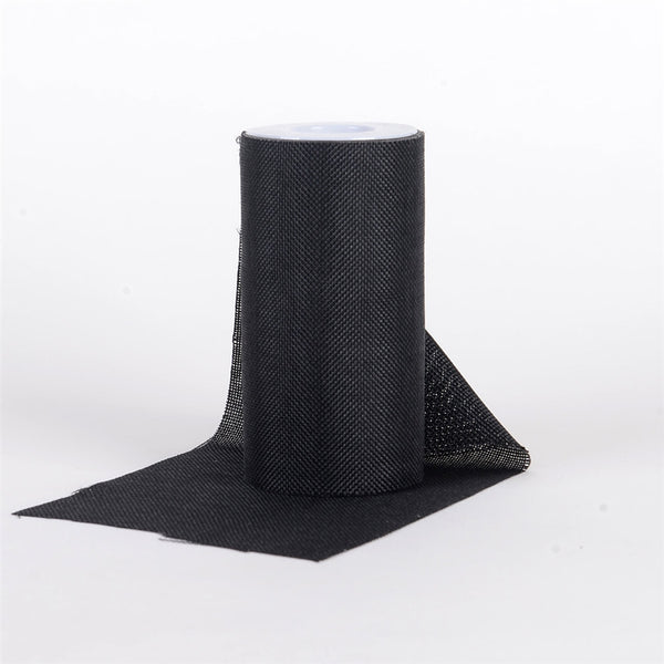 BLACK - 6 inch Faux Burlap Roll