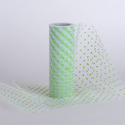 Swiss Color Dot Tulle Roll APPLE GREEN