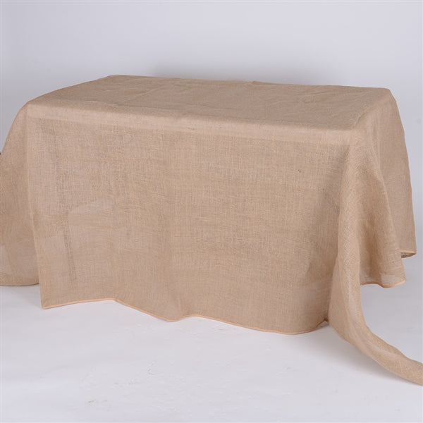 60x126 Inch Fine Rustic Jute Burlap RECTANGLE Tablecloths