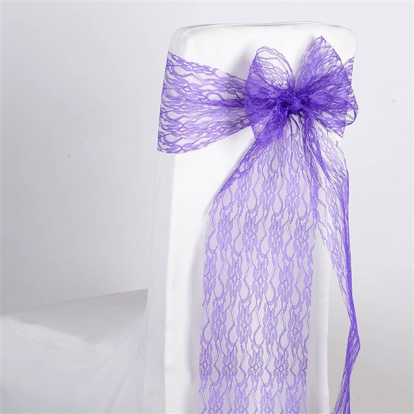 PURPLE Lace Chair Sash