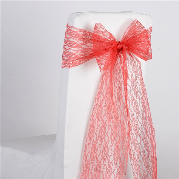 CORAL Lace Chair Sash