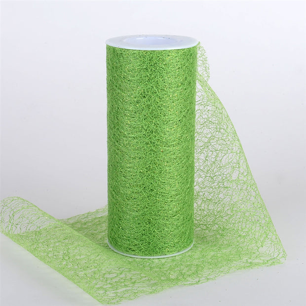 Glitter Sisal Mesh Roll APPLE GREEN