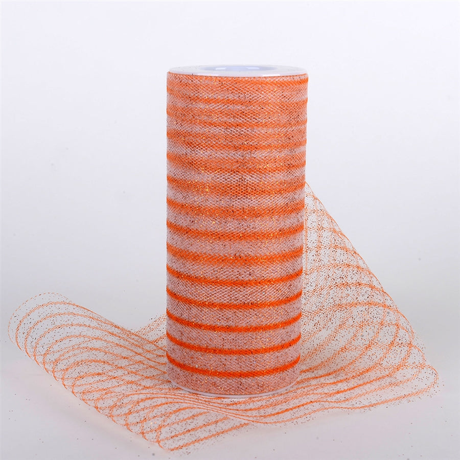 Glitter Multi Striped Tulle ORANGE