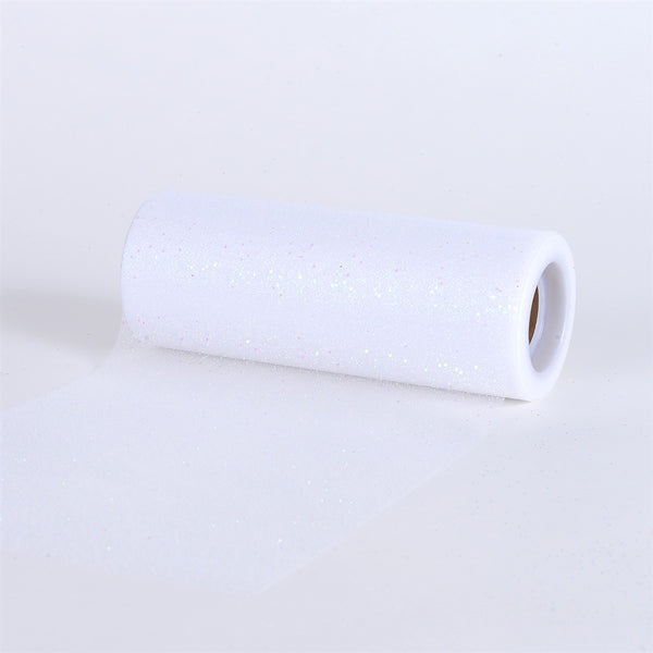 WHITE Confetti ORGANZA 6 Inch Roll 10 Yards