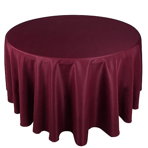 BURGUNDY 70 Inch POLYESTER ROUND Tablecloths