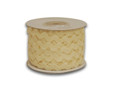 IVORY 10 mm Ric Rac Trim 25 Yards - RR10018