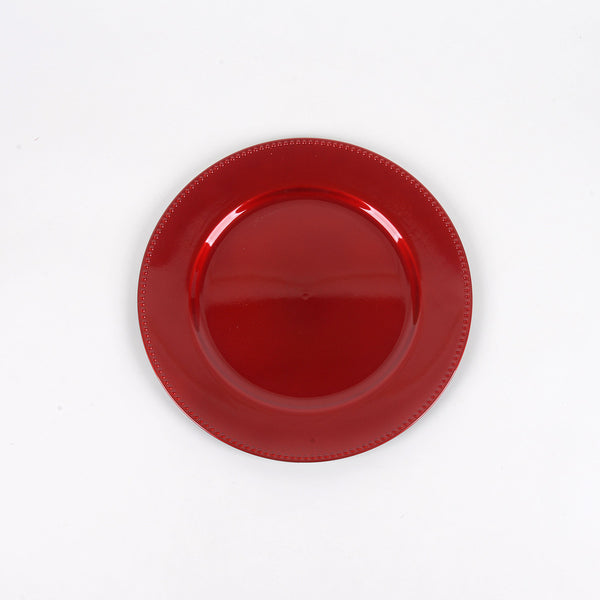13'' Red Round Charger Plates - Pack of 6