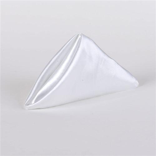 WHITE SATIN Napkins 20 Inch x 20 Inch - Pack of 5