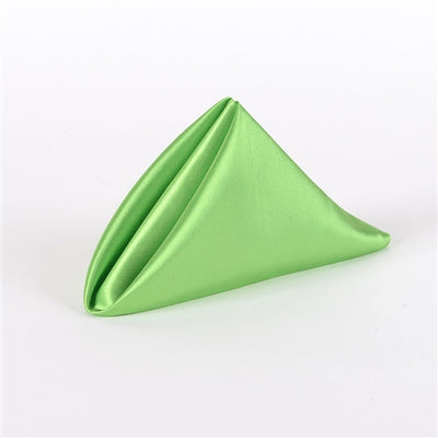 APPLE GREEN SATIN Napkins 20 Inch x 20 Inch - Pack of 5