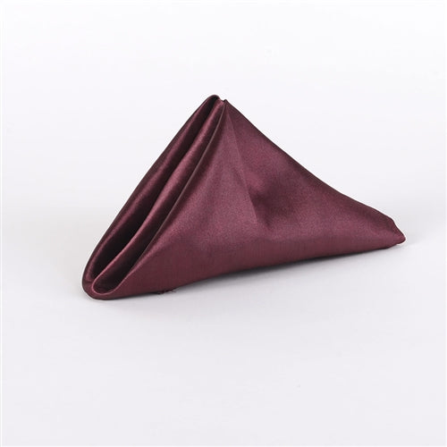 BURGUNDY SATIN Napkins 20 Inch x 20 Inch - Pack of 5