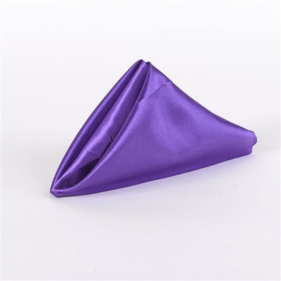 PURPLE SATIN Napkins 20 Inch x 20 Inch - Pack of 5