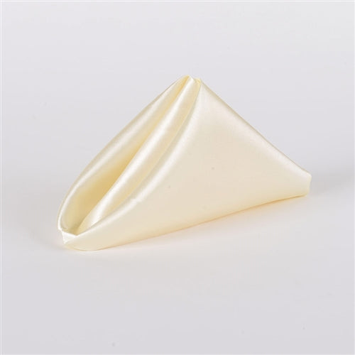 IVORY SATIN Napkins 20 Inch x 20 Inch - Pack of 5