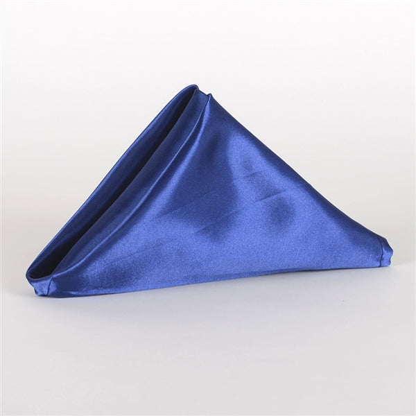 NAVY SATIN Napkins 20 Inch x 20 Inch - Pack of 5