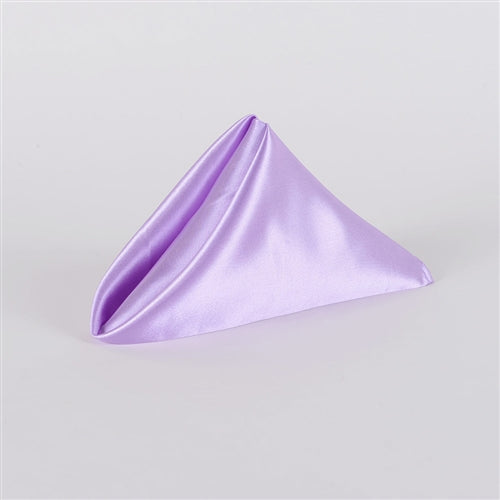 Lavender SATIN Napkins 20 Inch x 20 Inch - Pack of 5