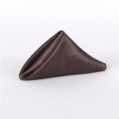 CHOCOLATE BROWN SATIN Napkins 20 Inch x 20 Inch - Pack of 5