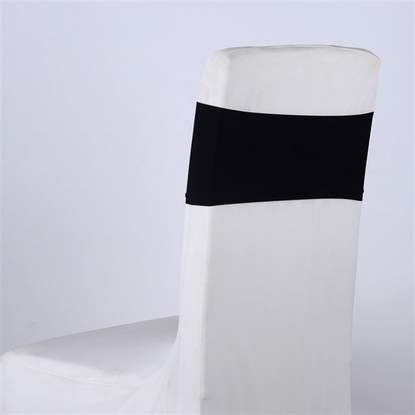 BLACK Spandex Chair Sash 5 pieces