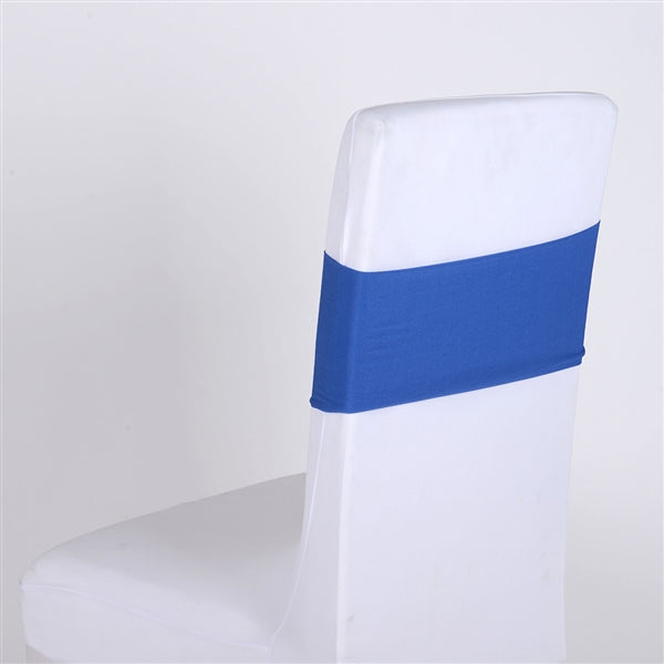 ROYAL BLUE Spandex Chair Sash 5 pieces