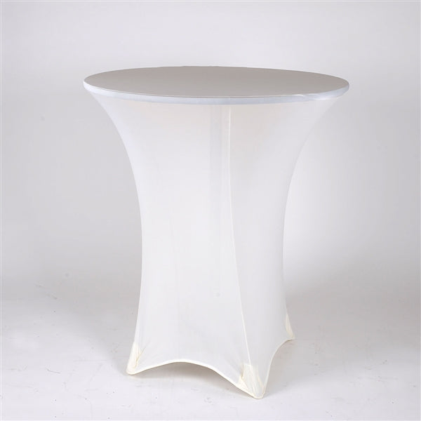 IVORY Spandex Cocktail Tablecloths