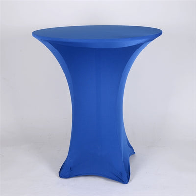 ROYAL BLUE Spandex Cocktail Tablecloths