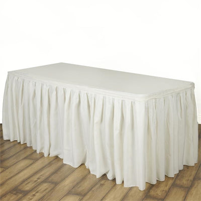 IVORY POLYESTER Table Skirt 17 Feet
