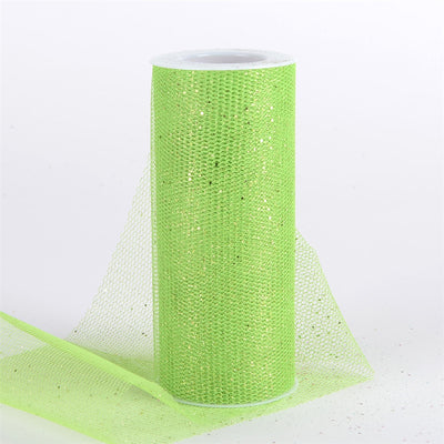 APPLE GREEN Glitter Net 6x10 Yards