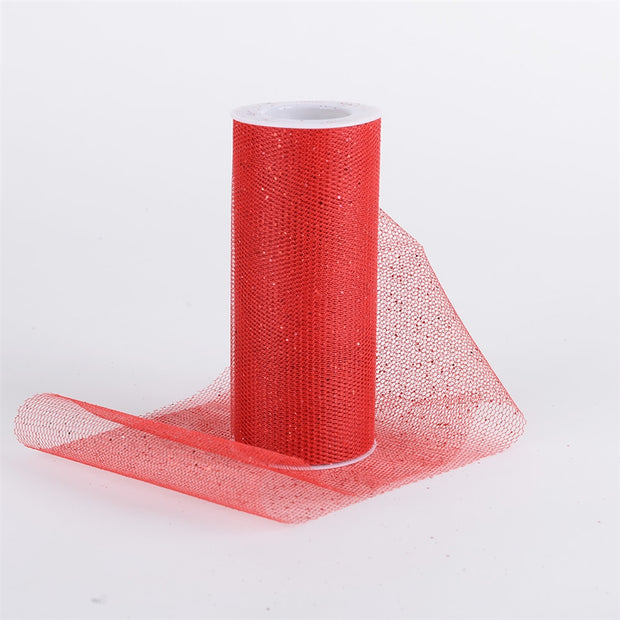 RED Glitter Net 6x10 Yards