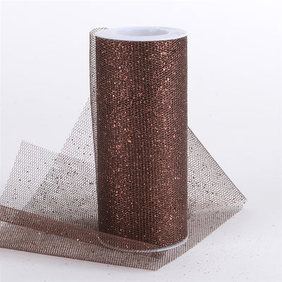 CHOCOLATE BROWN Glitter Net 6x10 Yards