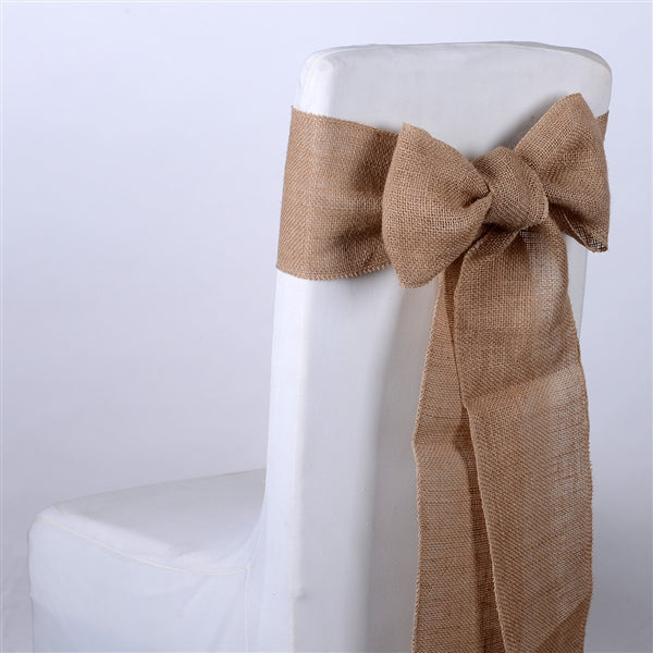 Natural Burlap Chair Sash ( Pack of 5 )