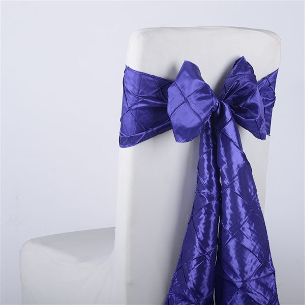 PURPLE PINTUCK Chair Sashes 10 Pieces