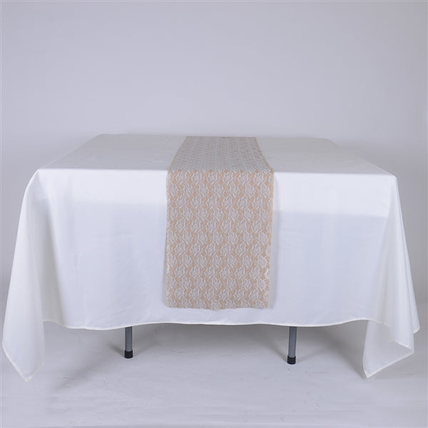 Calla Lili Burlap Table Runner