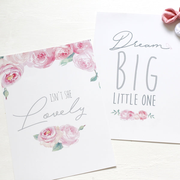 Dream Big floral print