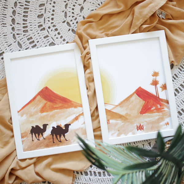 Desert Watercolour Print Pair