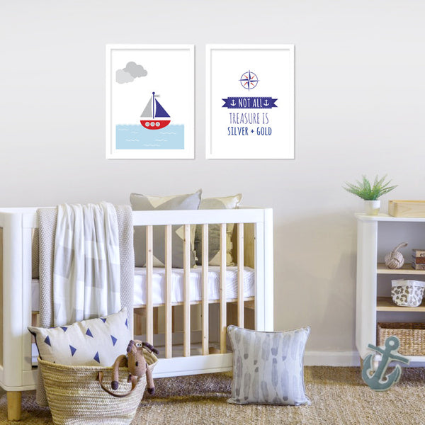 Nautical Boat Print - Seconds