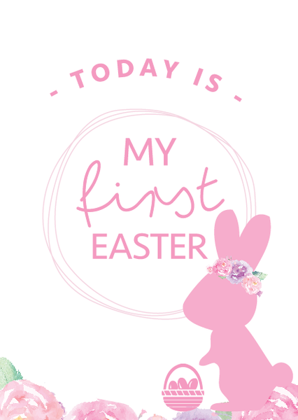My first EASTER cards - pink or blue