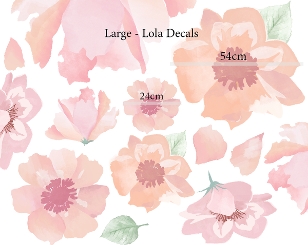 Lola Flower Decals