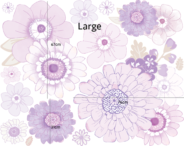 Violet Vibes wall Decals