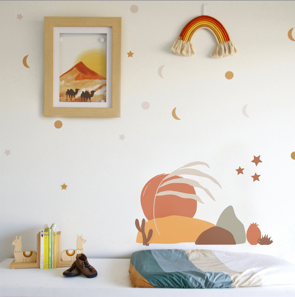 Desert landscape Wall Decal