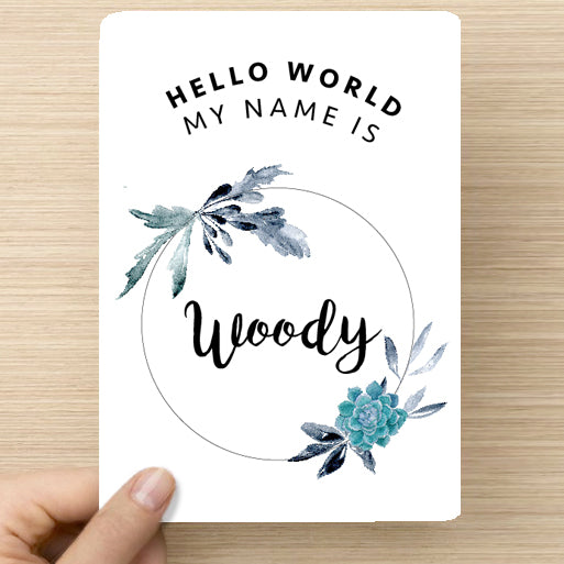 Succulent Name Announcement Card