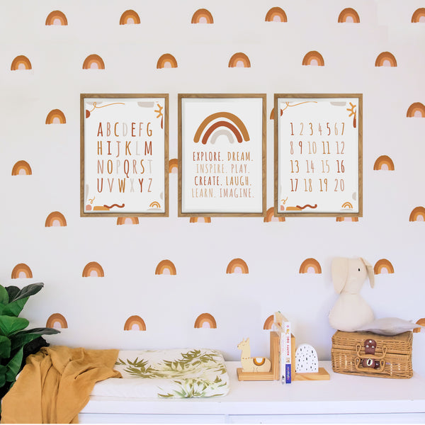 Autumn Playroom Prints - Print Trio